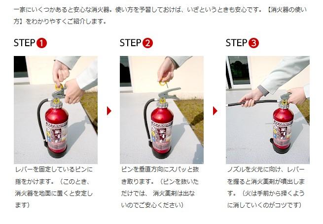 消火器の使い方モリタ宮田工業提供写真